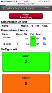 Abbildung 3: Statusseite mobile Ansicht (Smartphone/Tablett)