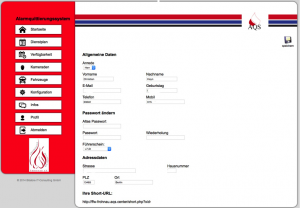 Abbildung 9: Administration der Nutzerprofile